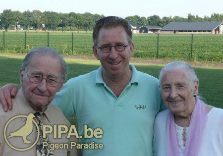 Gerard Koopman with his parents: Cornelis and Jansje