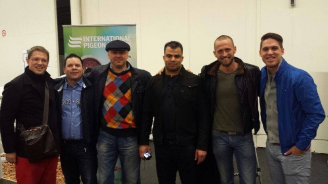 From left to the right: Nikolaas Gyselbrecht, Marcel Sangers, Florea Sorin, Lorenzo Van Russel, Dinu Mihai and Thomas Gyselbrecht or the Romanian-Dutch-Belgian Brotherhood!!! (Expo Houten)