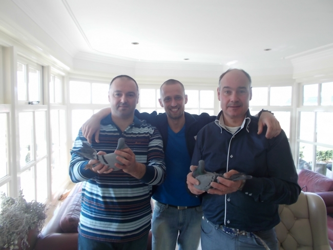 """Together with Peter Veenstra and the famous """"Special Blue""""."""